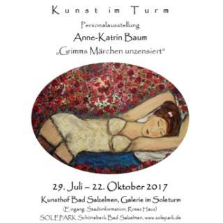 Personalausstellung Anne-Katrin Baum 29.7. bis 22.10.2017