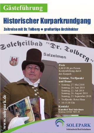 Historischer Kurparkrundgang mit Dr. Tolberg