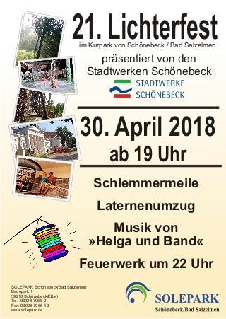 Stadtwerke Schönebeck präsentieren das Lichterfest
