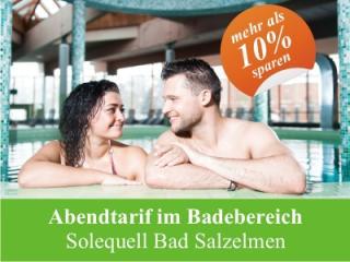 Mehr als 10% sparen mit dem Abendtarif Bad