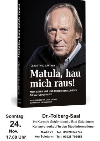 """""""Matula, Hau mich raus"""" - Autorenlesung mit Claus Theo Gärtner"""