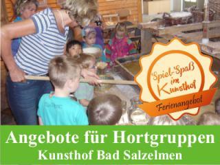 Spannende Spiel-Spaß-Angebote im Kunsthof für Hortgruppen