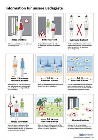 Gültige Abstands- und Hygienemaßnahmen