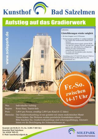 Kunsthof: Gradierwerksaufstieg ab 4. Juni