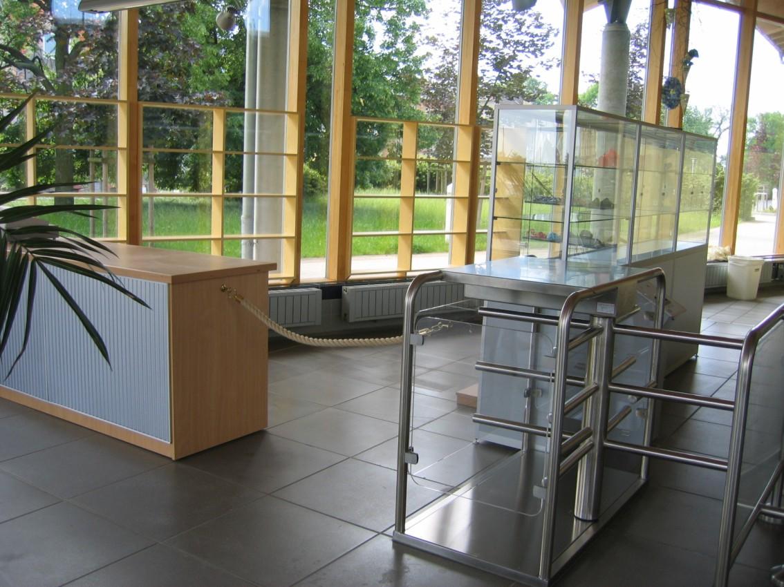 Verkaufsstand im Solequell-Foyer